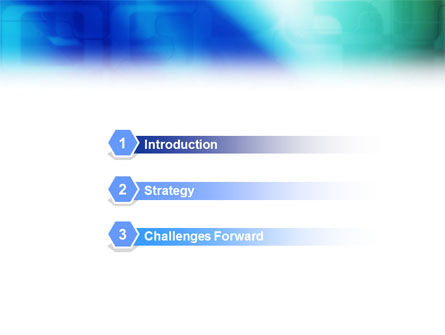 Blank Blue PowerPoint Template Slide 3