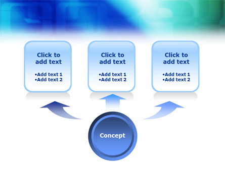 Blank Blue PowerPoint Template Slide 4