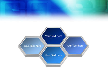 Blank Blue PowerPoint Template Slide 5
