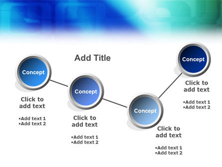 Blank Blue PowerPoint Template Slide 6
