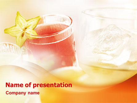 Soft Drinks PowerPoint Template, 01502, Food & Beverage — PoweredTemplate.com