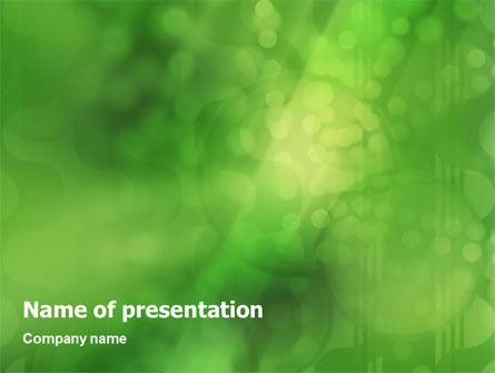 Abstract/Textures: Green Abstract PowerPoint Template #01503