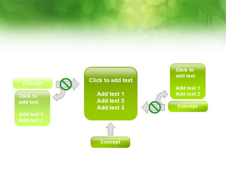 Green Abstract PowerPoint Template Slide 13