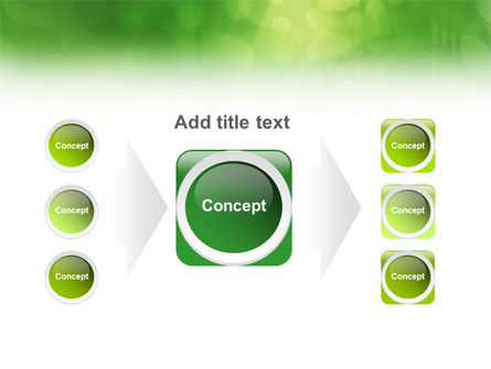Green Abstract PowerPoint Template Slide 17