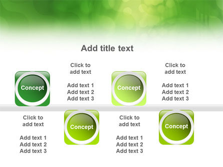 Green Abstract PowerPoint Template Slide 19