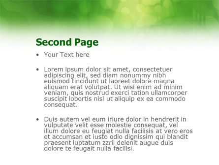 Green Abstract PowerPoint Template Slide 2