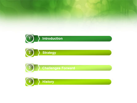 Green Abstract PowerPoint Template Slide 3