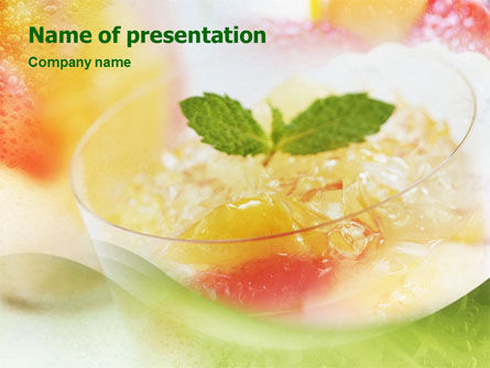 Food & Beverage: Dessert PowerPoint Template #01505