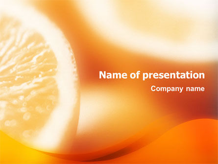 Food & Beverage: Halves of Orange PowerPoint Template #01507