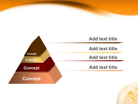 Halves of Orange PowerPoint Template Slide 10