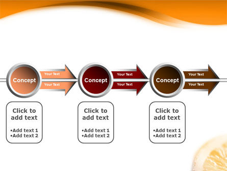 Halves of Orange PowerPoint Template Slide 11
