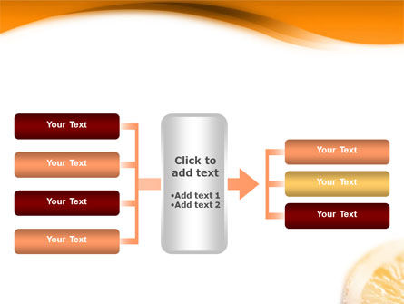 Halves of Orange PowerPoint Template Slide 16