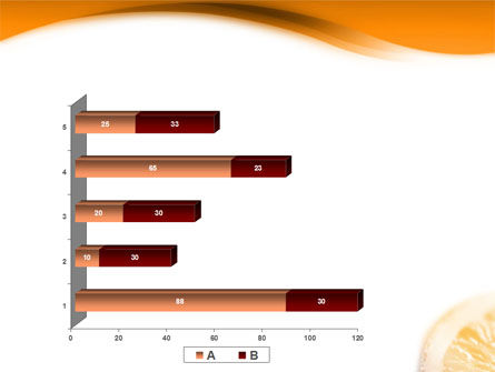 Halves of Orange PowerPoint Template Slide 17