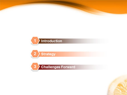 Halves of Orange PowerPoint Template Slide 3