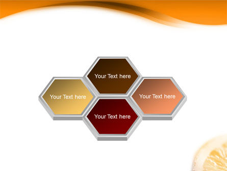 Halves of Orange PowerPoint Template Slide 5