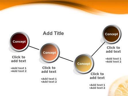 Halves of Orange PowerPoint Template Slide 6