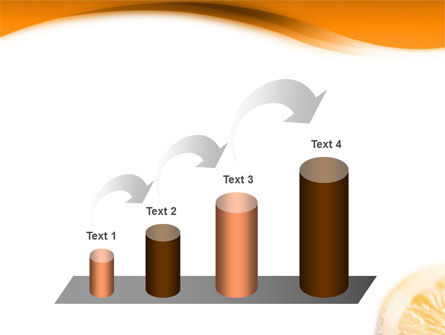 Halves of Orange PowerPoint Template Slide 7