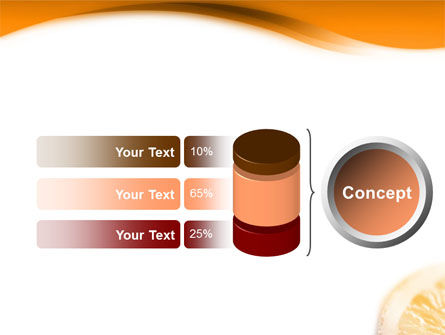 Halves of Orange PowerPoint Template Slide 8