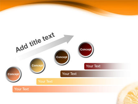 Halves of Orange PowerPoint Template Slide 9