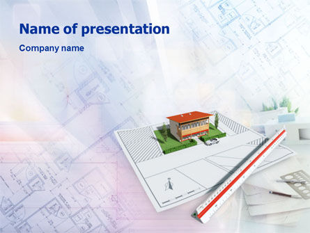 Construction: Cottage Model PowerPoint Template #01508