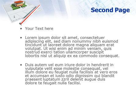 Cottage Model PowerPoint Template, Slide 2, 01508, Construction — PoweredTemplate.com