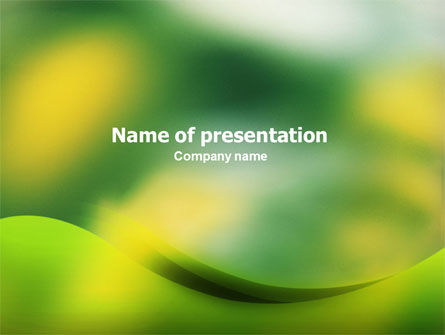 Yellow Spots PowerPoint Template, 01510, Abstract/Textures — PoweredTemplate.com