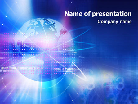 Blue Earth Abstract PowerPoint Template, 01511, Global — PoweredTemplate.com
