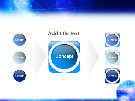 Blue Earth Abstract PowerPoint Template Slide 17