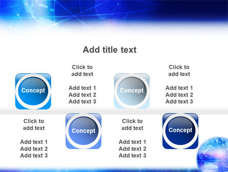 Blue Earth Abstract PowerPoint Template Slide 19