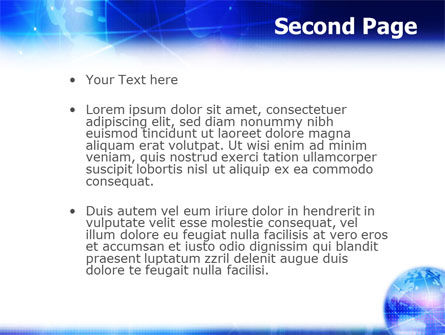 Blue Earth Abstract PowerPoint Template, Slide 2, 01511, Global — PoweredTemplate.com