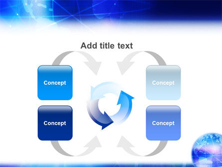 Blue Earth Abstract PowerPoint Template Slide 6