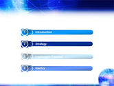 Blue Earth Abstract PowerPoint Template#3