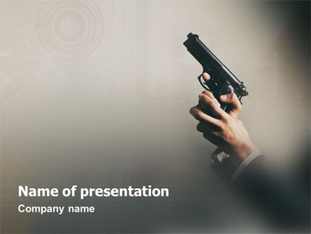 Firearms PowerPoint Template, 01512, Legal — PoweredTemplate.com