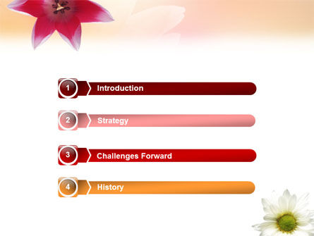 Oxy Daisy On A Pink Background PowerPoint Template Slide 3
