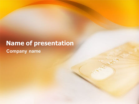 Business: Cash Card PowerPoint Template #01516