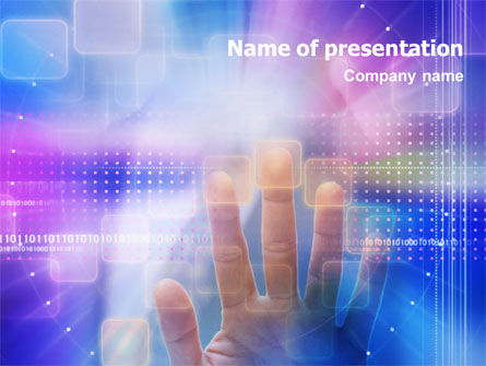 Technology and Science: Control Panel PowerPoint Template #01517