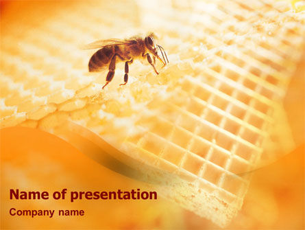 Food & Beverage: Wafers and Honey PowerPoint Template #01518