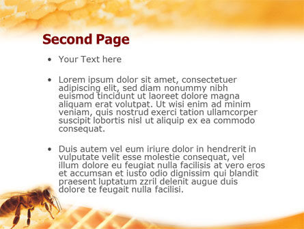 Wafers and Honey PowerPoint Template Slide 2