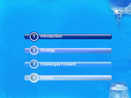 Glass Of Water And Ice PowerPoint Template Slide 3