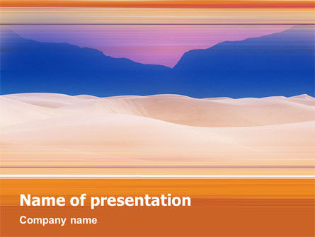 Paysage PowerPoint Template, 01520, Nature & Environment — PoweredTemplate.com