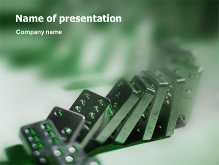 Domino PowerPoint Template, 01521, Business Concepts — PoweredTemplate.com