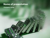 Business Concepts: Plantilla de PowerPoint - dominó #01521
