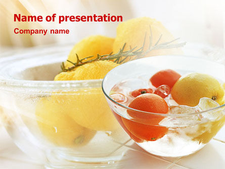 Exotic Fruits From Exotic Countries PowerPoint Template