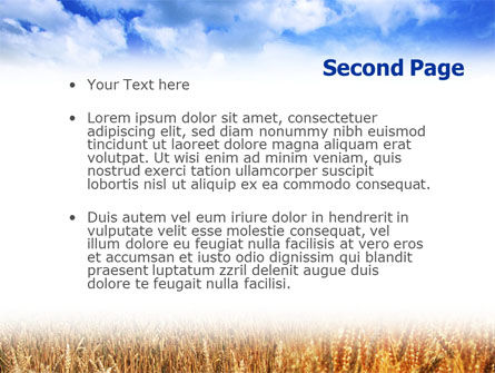 Wheat Field PowerPoint Template Slide 2