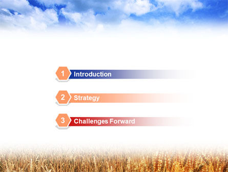 Wheat Field PowerPoint Template, Slide 3, 01527, Agriculture — PoweredTemplate.com