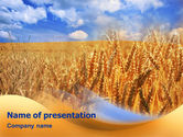 Wheat Field PowerPoint Template#1