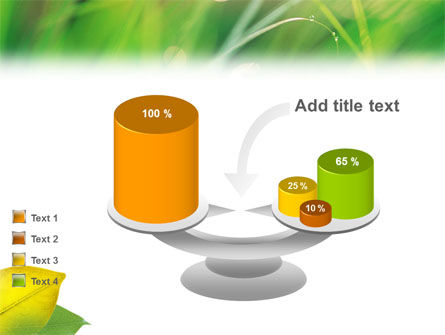 Yellow Leaf In Green Grass PowerPoint Template Slide 10