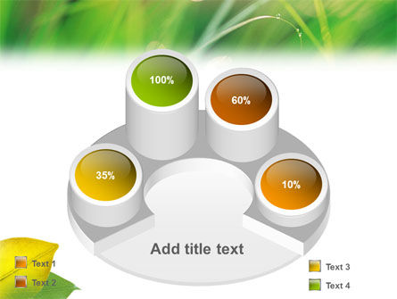Yellow Leaf In Green Grass PowerPoint Template Slide 12