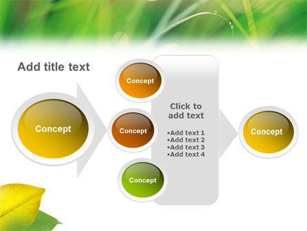 Yellow Leaf In Green Grass PowerPoint Template Slide 17