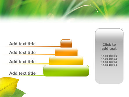 Yellow Leaf In Green Grass PowerPoint Template Slide 8